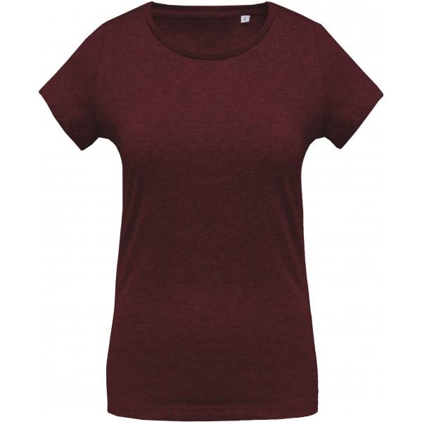 Organisk Dam T-shirt - Vinröd