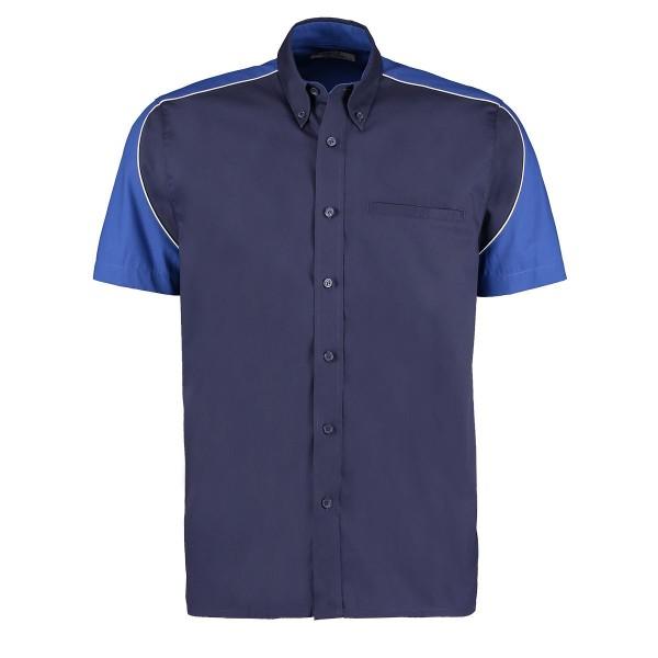 Kortärmad Skjorta Kontrast