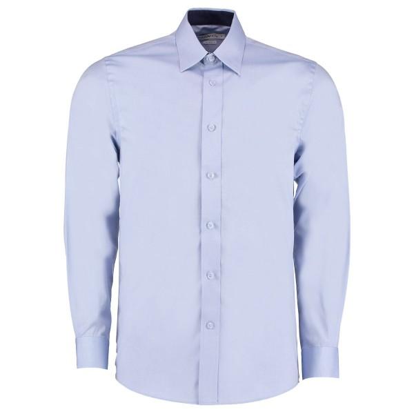 Långärmad Oxfordskjorta med kontrastfärg