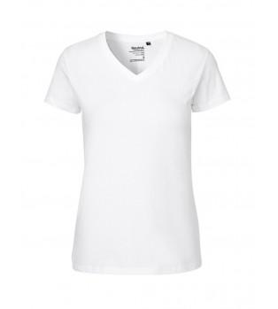 Ekologisk Dam T-shirt V-neck