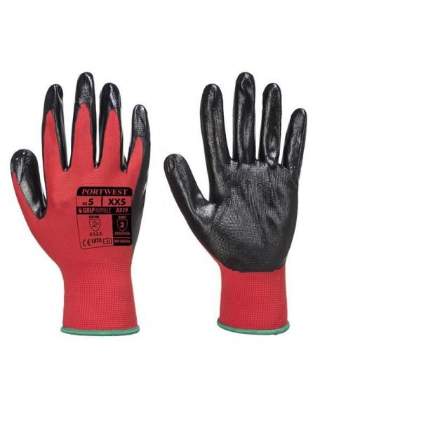 Nitrilbelagd Handske med Flexibelt Grepp i Plastförpackning