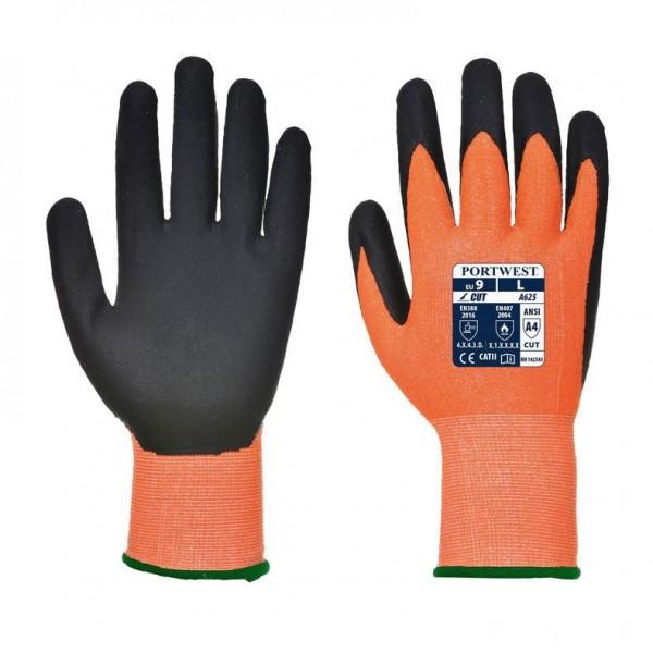 Skärbeständig handske med värmeskydd - Orange