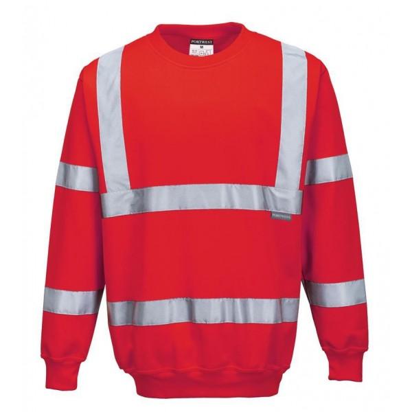 Billig Varsel Sweatshirt - Röd