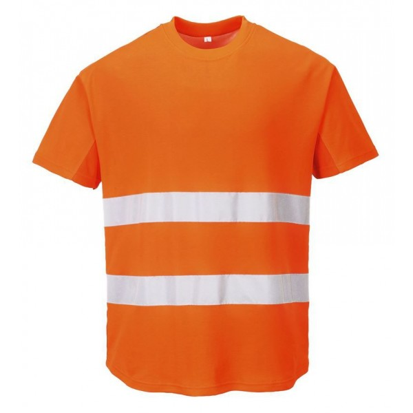 Varsel T-shirt med Ventilation Funktion - Orange