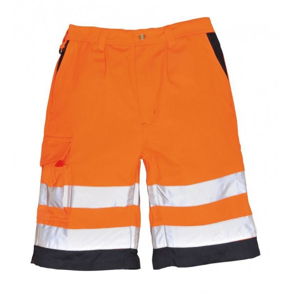 Billiga Varselshorts - Orange/Marinblå