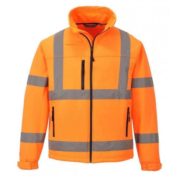 Billig Varsel Softshell Jacka - Orange