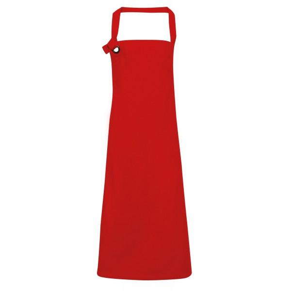 Snyggt Förkläde i Tung Bomullscanvas - Röd