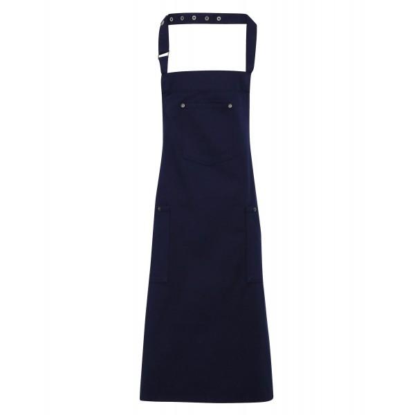 Förkläde i Chino Stil - Marinblå