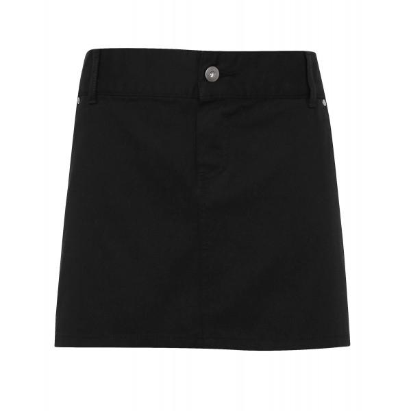 "Kort Midjeförkläde i ""Chino"" Stil - Svart"