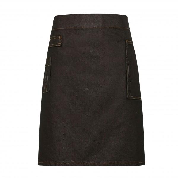 Jeans Midjeförkläde i Vaxad Look - Indigo Denim