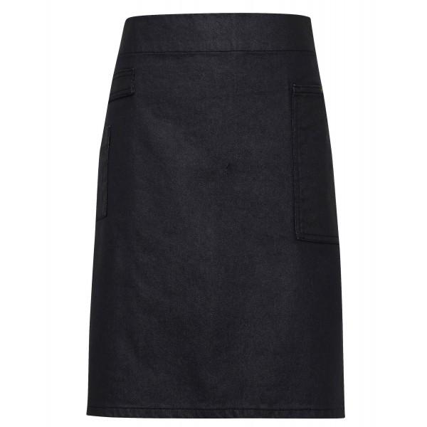 Jeans Midjeförkläde i Vaxad Look - Indigo / Brun Denim