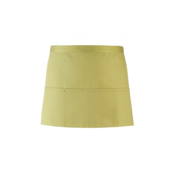 Kort förkläde med fickor