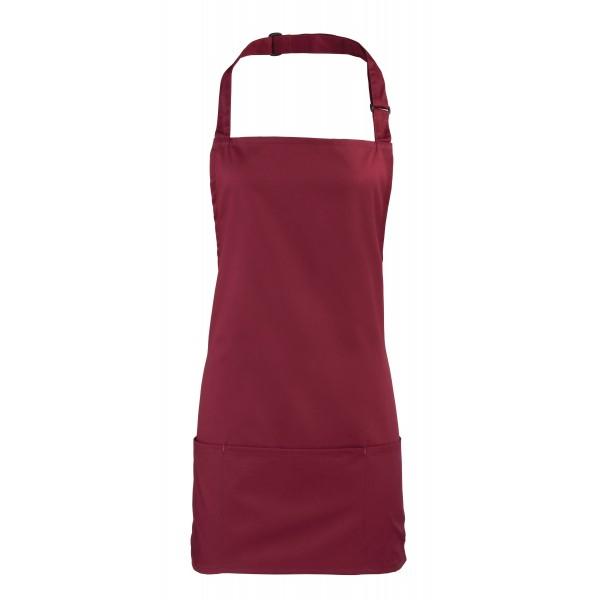 2-i-1 Förkläde - Vinröd