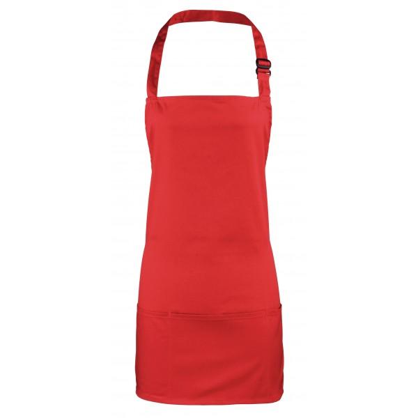 2-i-1 Förkläde - Röd