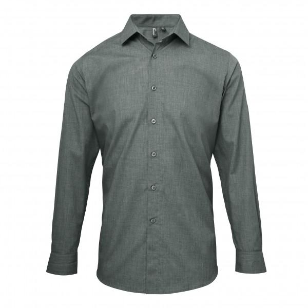 Barskjorta med Rullärmar i Poplin Stil - Grå Denim