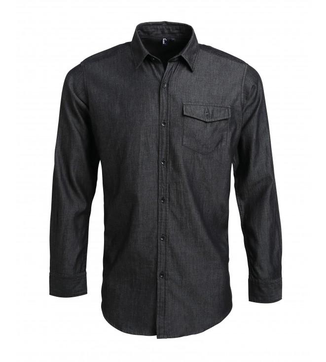 Snygg Jeansskjorta med Kontraststygn