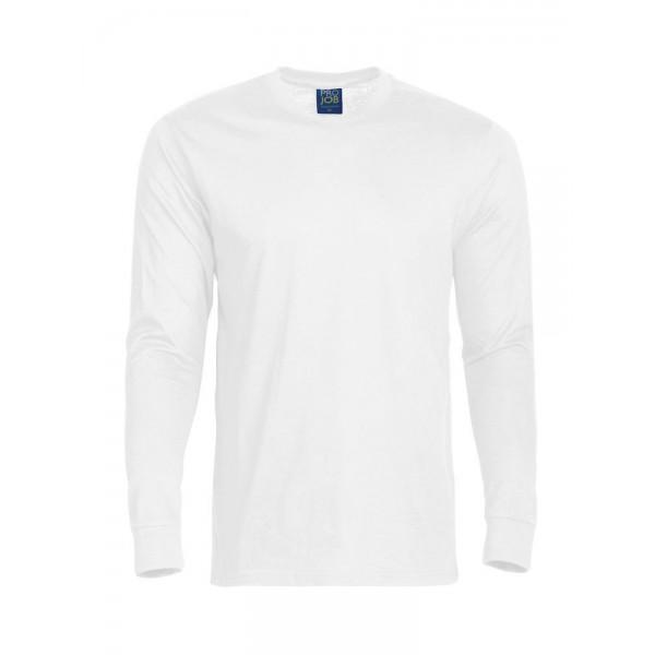 Långärmad Jobb T-shirt - Vit