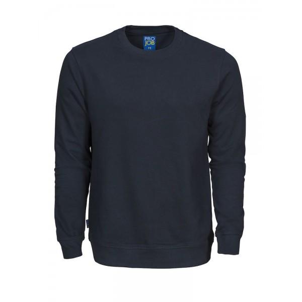 Rundhalsad Bomullssweatshirt - Marinblå