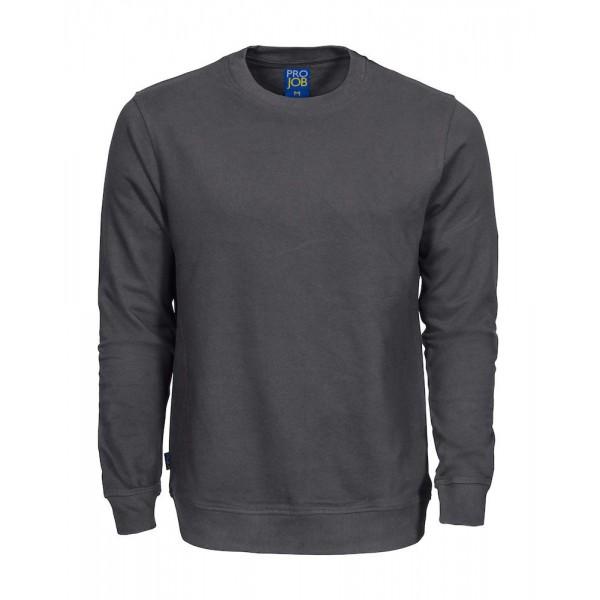 Rundhalsad Bomullssweatshirt - Grå