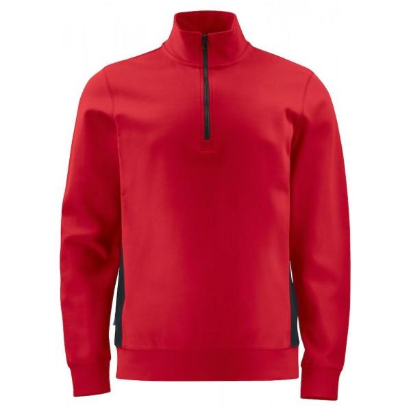 Arbets Sweastshirt ½ Dragkedja - Röd