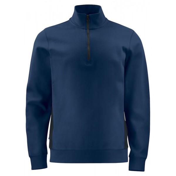 Arbets Sweastshirt ½ Dragkedja - Marinblå