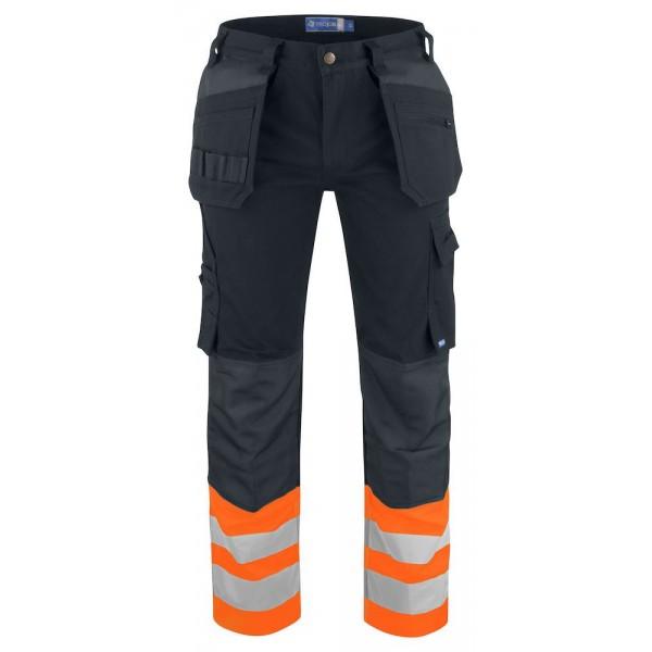 Hantverksbyxa Varsel - Klass 1 - Orange/Svart