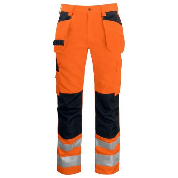 Varsel Snickarbyxa- Klass 2 - Orange/Svart