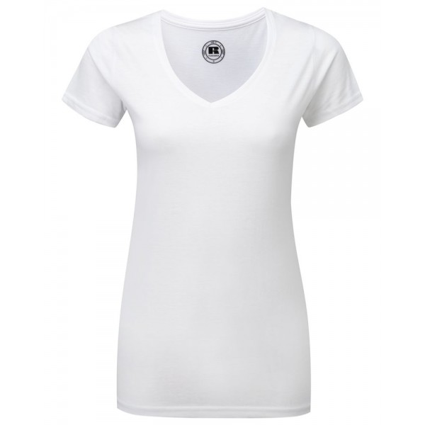 Trendig T-shirt V-ringad Dam
