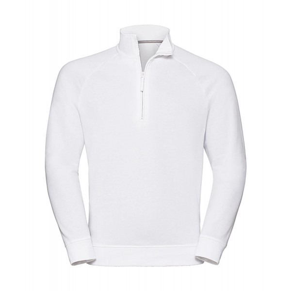 1/4 Zip Sweatshirt - Vit