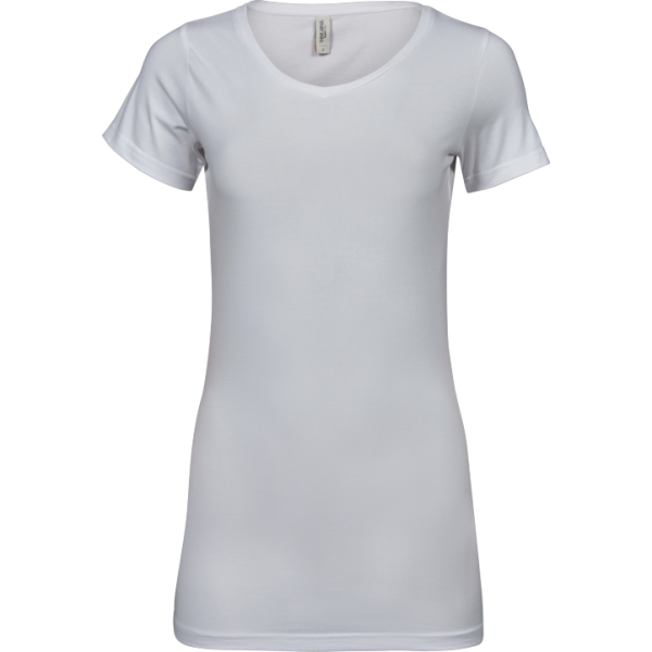 Avlång Stretch T-shirt Dam