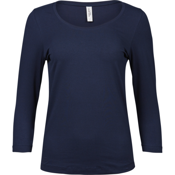 Stretch T-shirt Halvlånga Ärmar Dam