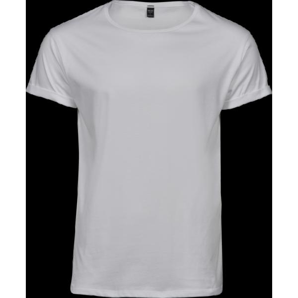 Herr T-shirt med Upprullade ärmar