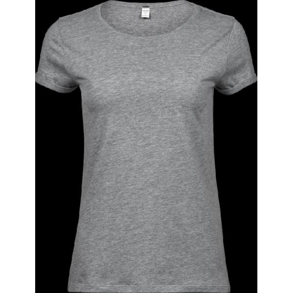 Dam T-shirt med Upprullade ärmar