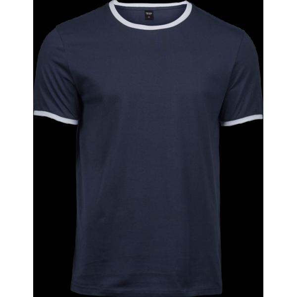 Exklusiv Kontrast T-shirt Herr