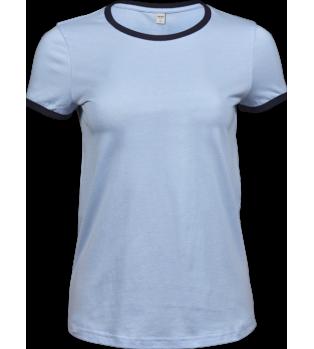 Exklusiv Kontrast T-shirt Dam