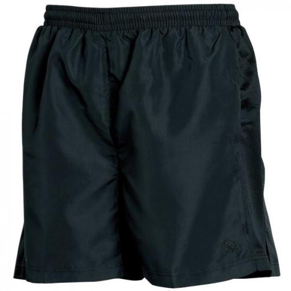 Sport Shorts med Dekorband - Svart