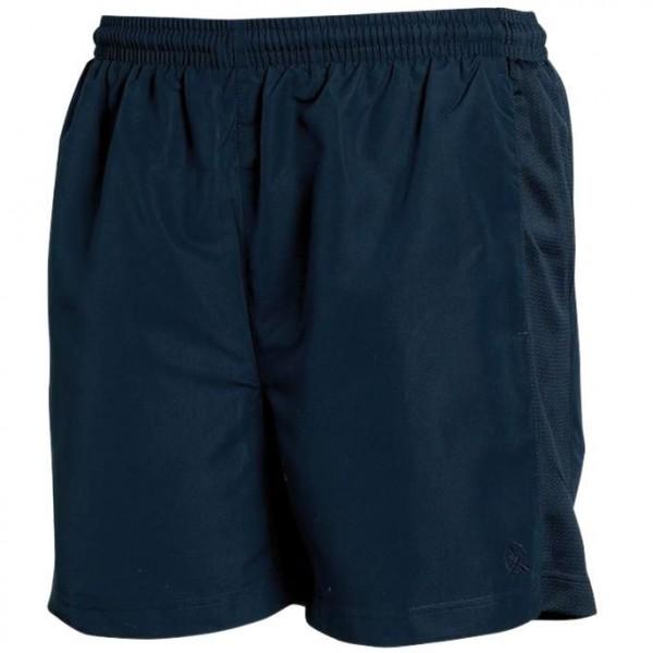Sport Shorts med Dekorband - Marinblå