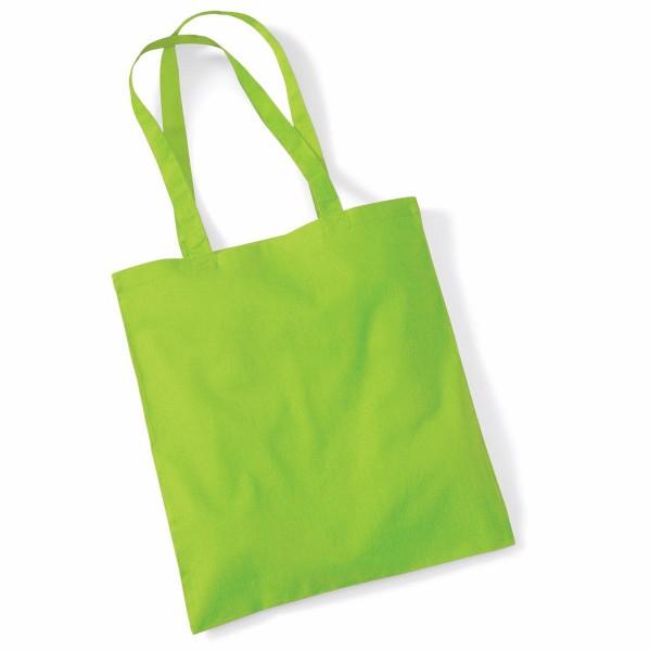 Tygkasse Långa Handtag - Lime Grön