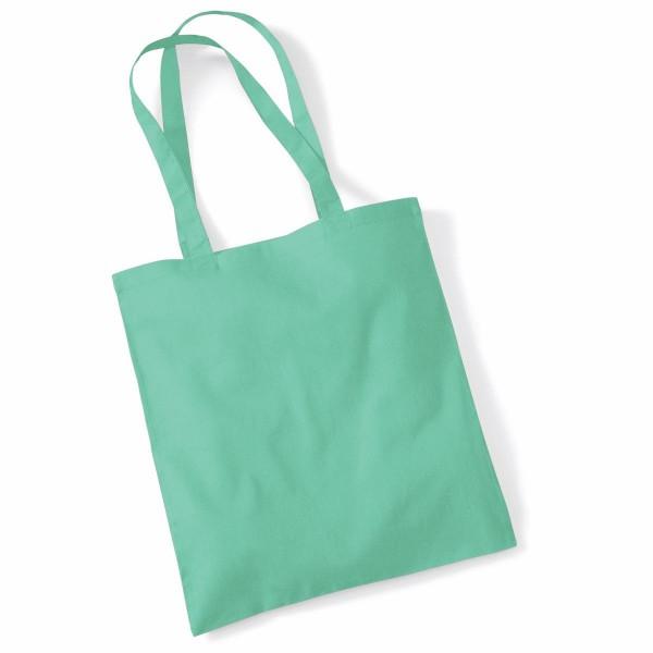Tygkasse Långa Handtag - Mint Grön