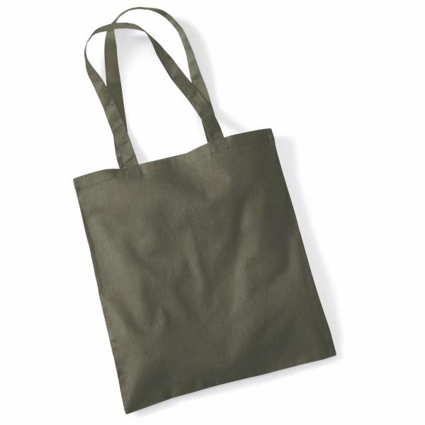 Tygkasse Långa Handtag - Olivegrön