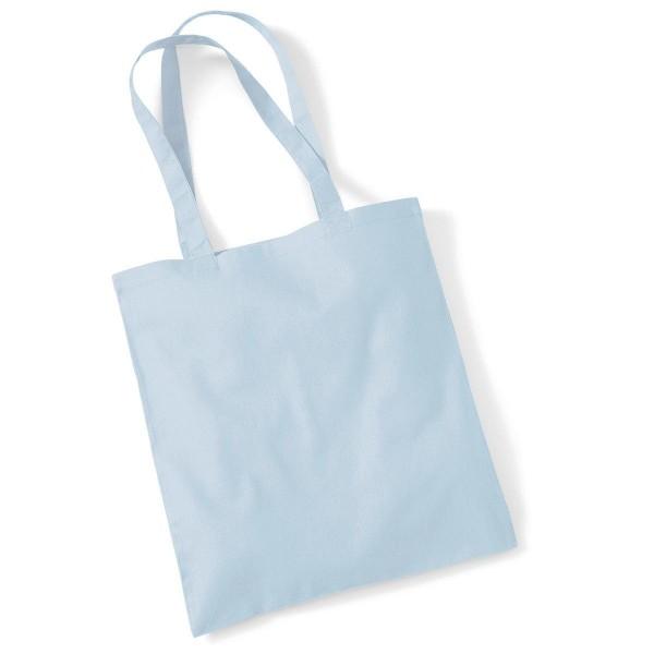Tygkasse Långa Handtag - Pastellblå