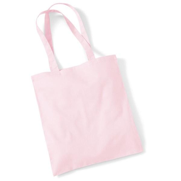 Tygkasse Långa Handtag - Pastell Rosa