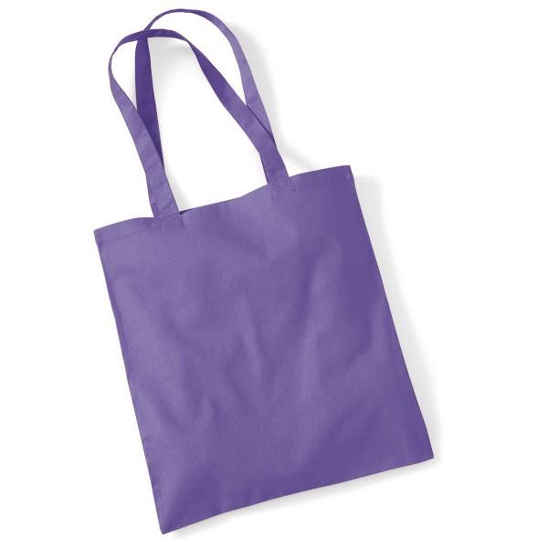 Tygkasse Långa Handtag - Violett