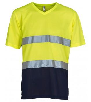 V-ringad Varsel T-shirt i Nät