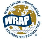 Worldwide responsibile. Accredited production. WRAP